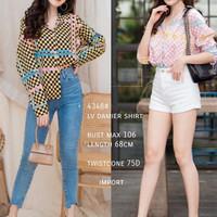 Atasan Wanita Import 4348# LV Damier shirt