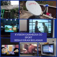 Kvision Garmedia Go Sport Bogor (antena parabola mini channel lengkap)
