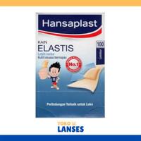 HANDSAPLAST isi 100 Pcs Plaster / Penutup Luka Kain Elastis / Band Aid