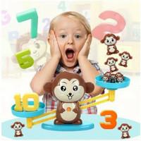 Mainan Edukasi anak Monkey Balance Math Toys Game Timbangan belajar