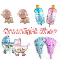 Balon Foil Baby Shower Set Baby Girl