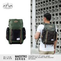 Tas Ransel Urban Carrier Backpack Vintage Atva Maestro Olive Black