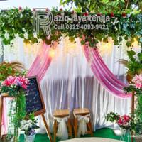 Kain backdrop lamaran/nikahan/wedding 3x3