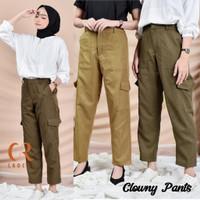 Celana Panjang Wanita Terbaru Baggy Pants Clowny Cargo Kekinian
