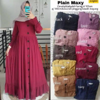 plain maxy gamis maxi polos original jual baju muslim murah original