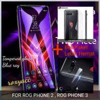tempered glass blue light rog phone 2 3 garskin tempered glass kamera