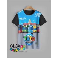 kaos anak TAYO baju anak TAYO v1 - 3-4 tahun