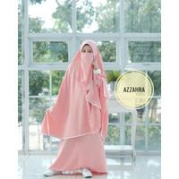 Baju Muslim Anak Perempuan Umur 10 tahun Baju Muslim Anak AZZAHRA-pink