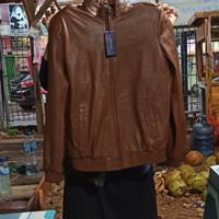 Jaket Kulit asli (POLO) warna coklat size M