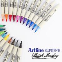 Artline Supreme Brush Marker / Art Calligraphy Lettering Coloring Pen