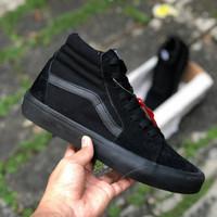 Vans sk8 full black ( sepatu vans / sepatu tinggi )