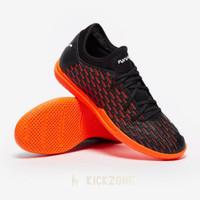 Sepatu Futsal Puma Future 6.4 IT Black Orange 10619901