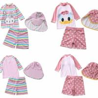 Setelan Baju Renang Bayi Perempuan Rabit dan Duck Plus Topi