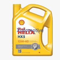 Shell Helix HX5 15W-40, 4 Liter, Oli Mobil Bensin / Diesel.