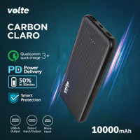 VOLTE CARBON CLARO 10.000 mAh Fast Charging Support QC 3.0 + PD