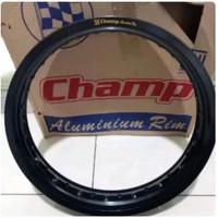 Velg Motor Racing Champ ukuran 250 ring 14 aluminium black hitam