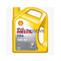 Shell Helix HX6 10W-40, 4Liter, Oli Mobil Bensin / Diesel.