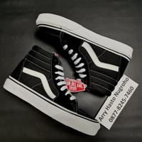 Sepatu Vans SK8 HI Black White - BW - ORIGINAL 100%