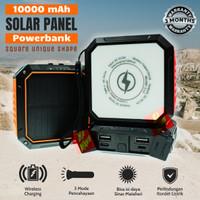 Powerbank Solar Matahari Surya Wireless 10000mAh Power Bank Senter