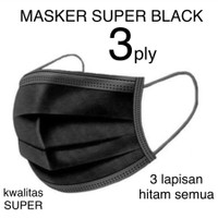 Masker 3 Ply isi 50 Pcs Hitam