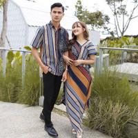Set couple tenun // kemeja tenun + dress tenun etnik