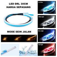 Lampu LED Alis Tempel DRL 30 CM Mobil Motor 30CM Sein Running Grade A+