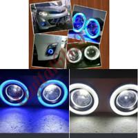 Fog lamp engel eyes ring 89 Led 2 warna mobil Datsun go+/ panca