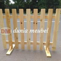 pagar kayu jati Belanda pembatas ruangan P100 T80