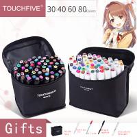 TouchFive Marker 30 Color / Twin Marker Brush Pen Art Copic 30 Warna