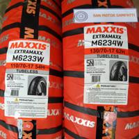 1 Set Ban Motor Maxxis Extramaxx Uk. 110/70 - 130/70 Ring 17 Tubeless