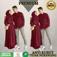 PROMO BAJU SARIMBIT SET COUPLE PASANGAN MURAH DRESS DAN KEMEJA