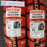 1 Set Ban Motor Maxxis Extramaxx Uk. 100/80 - 90/80 Ring 17 Tubeless