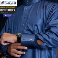 Jubah Gamis Pria Haramain Syirkuh Polyster Manset Super Premium