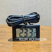 Thermometer Termometer Digital Akuarium Aquarium Aquascape Murah - Putih
