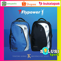 Flypower Rio Gold Tas Ransel Raket Badminton Backpack Bulutangkis