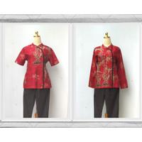 Baju Seragam Babysitter - Batik Merak Bambu Merah - S M L XL