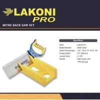 LAKONI PRO Gergaji Kayu Sudut Pigura 12 inch / Back Saw Set Miter Box