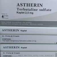 ASTHERIN TERBUTALINE SULFATE 1BOX ISI 100 TABLET