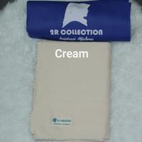 Hijab 2R Collection segi empat LC Bahan Voal warna Cream
