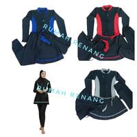 Baju renang muslimah dewasa baju renang wanita muslim baju renang anak - KOMBINASI BIRU, M