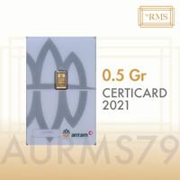 0,5 GR (GRAM) LOGAM MULIA/LOGAM MULIA ANTAM/LM/EMAS ANTAM BERSERTIFIKA
