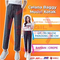 (COD) Celana Baggy Kotak / Doty Pants Motif Kotak