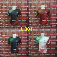 Baju Badminton Lining L 3011 Kaos Olahraga Bulutangkis Impor Murah