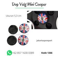 Emblem velg Red Flag 01-12 mini cooper austin mini ukuran 53mm