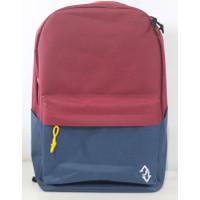 Ransel Laptop BackPack Sekolah unisex upDown DUAL COLOR U01-21 - Maroon-Navy