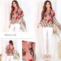 Baju Imlek Cheongsam Batik Blouse S-L Katun Stretch - Cheongsam Batik