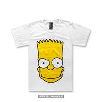 T-Shirt Baju Kaos   The Simpson - Bart Head