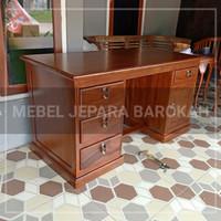 meja kantor meja kerja kayu jati
