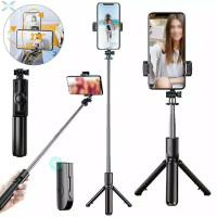 S03 Tongsis + Tripod + Remote Control Bt- Live Stream Selfie Stick