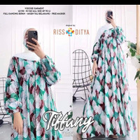 baju muslim wanita gamis syar'i dress tiffani